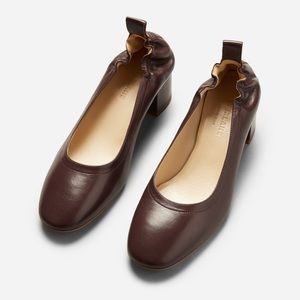 Almost New! Oxblood Everlane Day Heels, Size 7.5